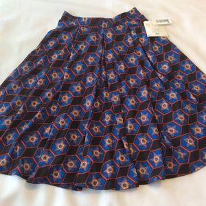 LuLaRoe Skirts - LuLaRoe Madison Skirt XS Pleats Pockets Knee full